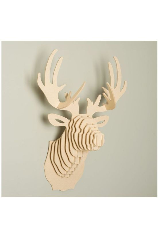 Le Studio Gadget Wooden Deer Head Brun Clair