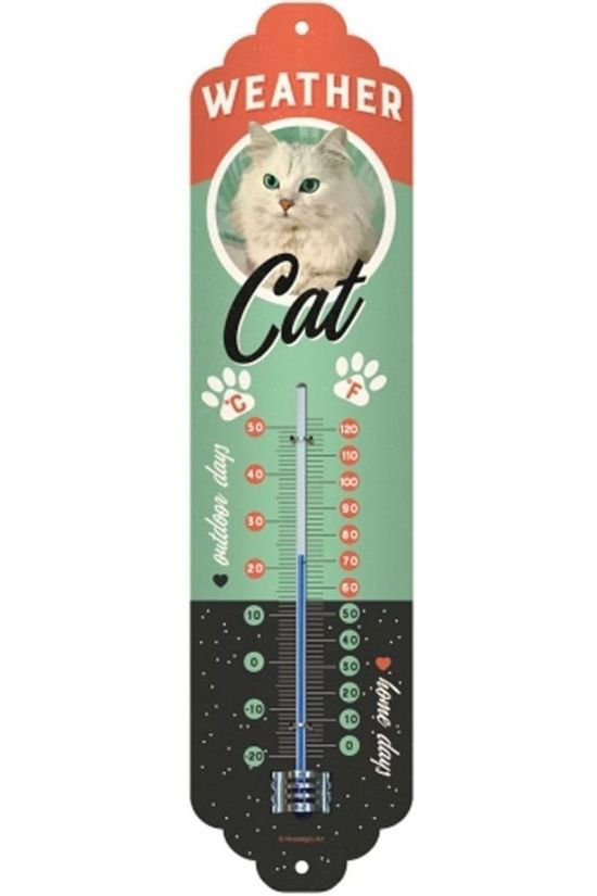 Nostalgic Art Gadget Weather Cat ThermoAvecer Pas de couleur / Transparent