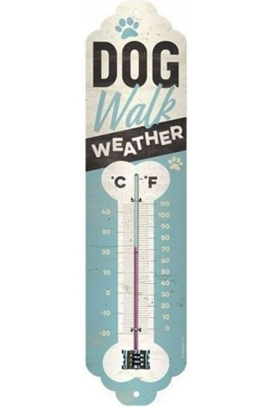 Nostalgic Art Gadget Dog Walk Weather Thermometer No colour / Transparent