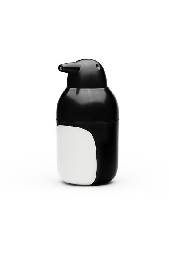 Qualy Gadget Penguin Soap Dispenser black/white