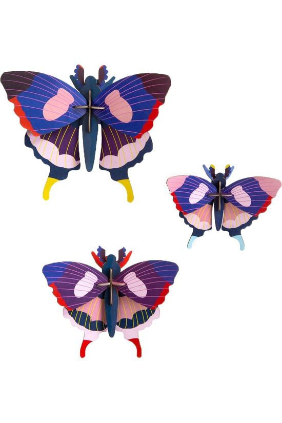 SRO Gadget Swallowtail Butterflies, set of 3 Bleu Foncé/Assorti / Mixte