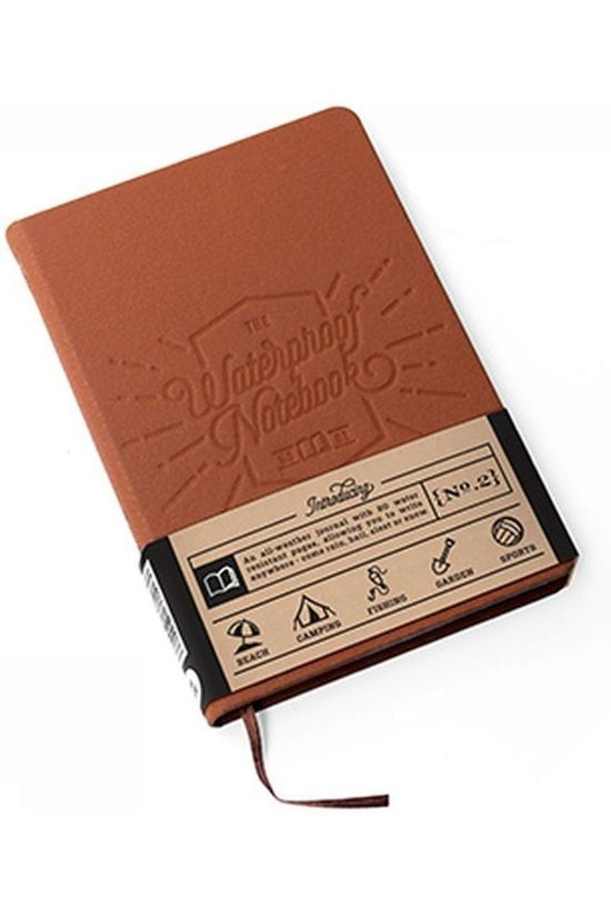 Luckies Gadget The Waterproof Notebook Marron Chameau