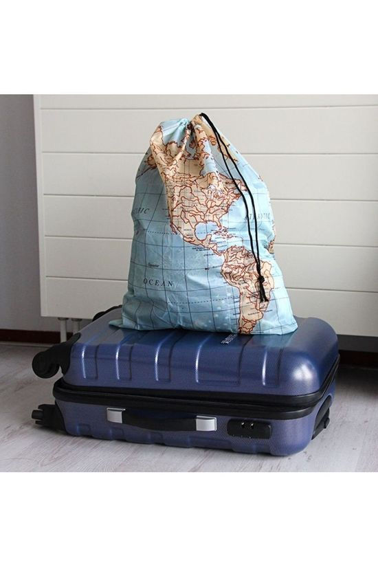 Kikkerland Gadget World Map Travel Size Sac à Linge Pas de couleur / Transparent