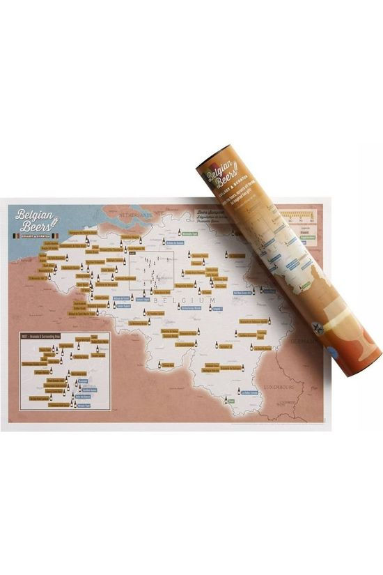 Maps International Gadget Belgian Beers Collect And Scratch Geen kleur / Transparant