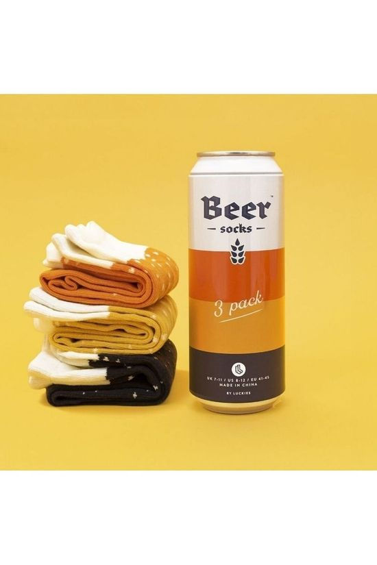 Luckies Gadget Beer Socks 3 Pack Assorted / Mixed