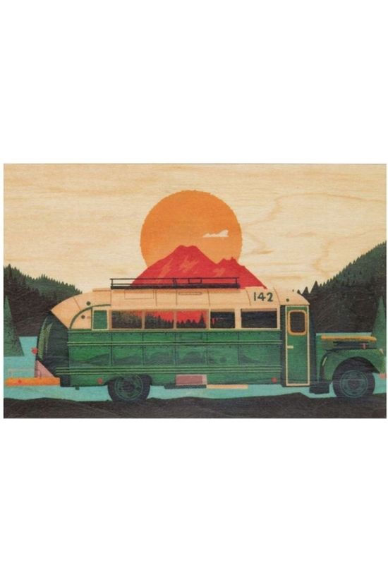 Woodhi Gadget Postcard Bus Light Brown/Assorted / Mixed