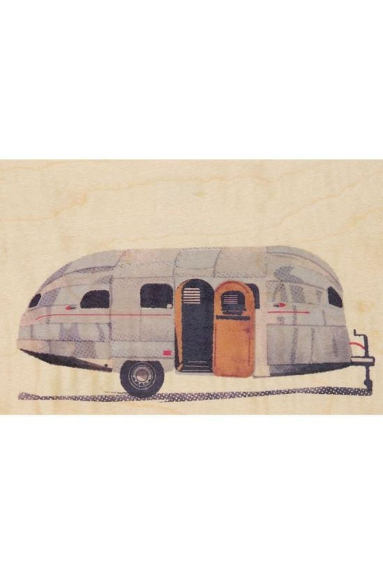 Woodhi Gadget Postcard Caravan Light Brown/Assorted / Mixed