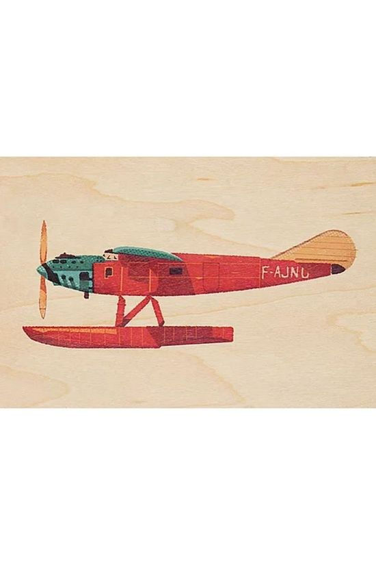 Woodhi Gadget Postcard Plane Light Brown/Assorted / Mixed
