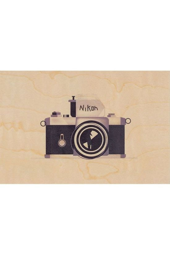 Woodhi Gadget Postcard Camera Light Brown/Assorted / Mixed