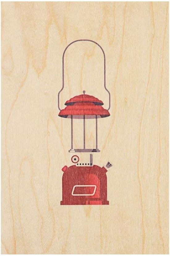 Woodhi Gadget Postcard Petrole Light Brown/Assorted / Mixed