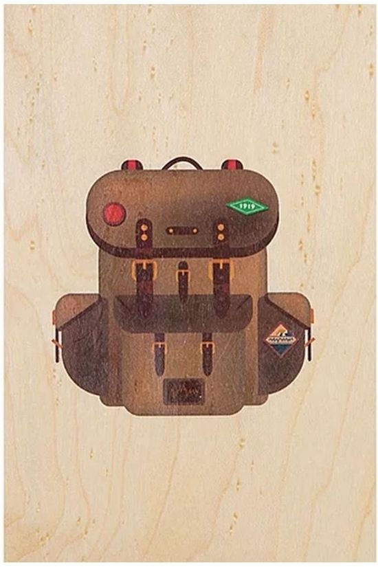 Woodhi Gadget Postcard Rucksack Brun Clair/Assorti / Mixte
