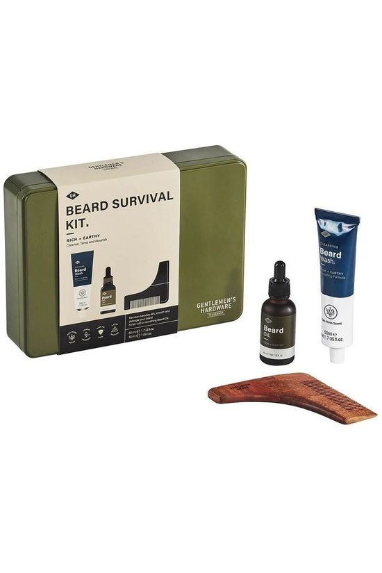 Gentlemen's Hardware Gadget Beard Survival Kit mid khaki