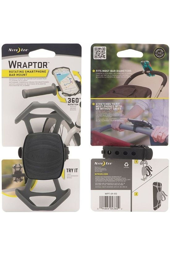 Nite Ize Wraptor Rotating Smartphone Bar Mount mid grey
