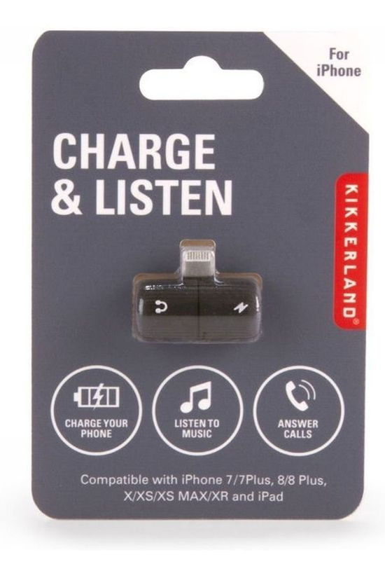 Kikkerland Gadget Charge And Listen black