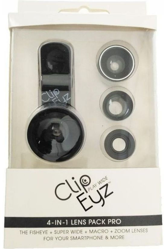 ClipEyz Gadget Clip 4 in 1 Lens Pack Pro black