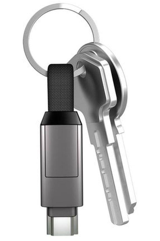 inCharge InCharge 6 Keyring Cable mid grey
