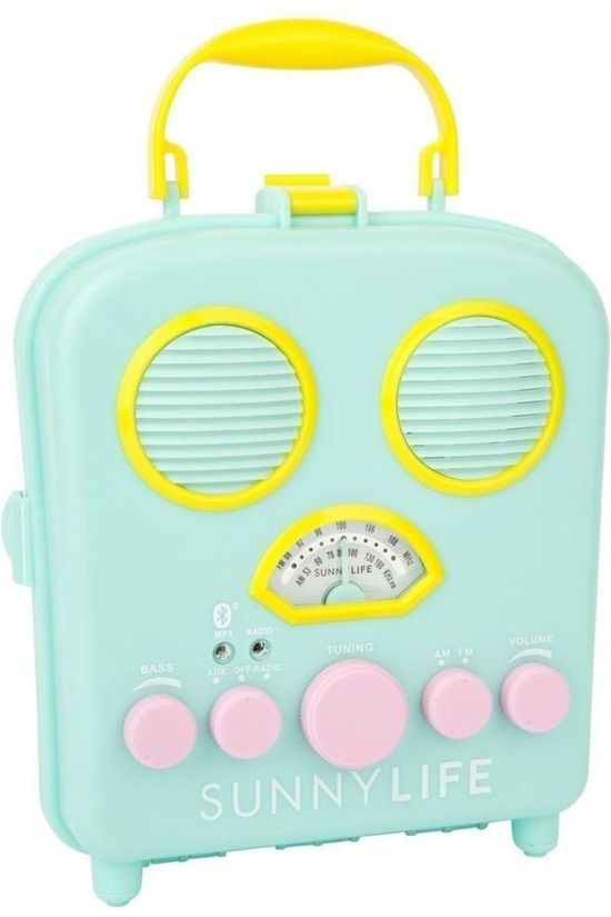 Sunnylife Gadget Beach Sounds Seafoam Turkoois/Geel