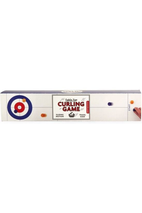 Kikkerland Game Table Top Curling Game White/Assorted / Mixed