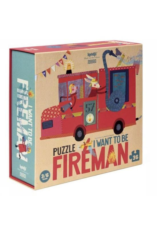 Londji Jeu I Want To Be Fireman Puzzle Pas de couleur / Transparent