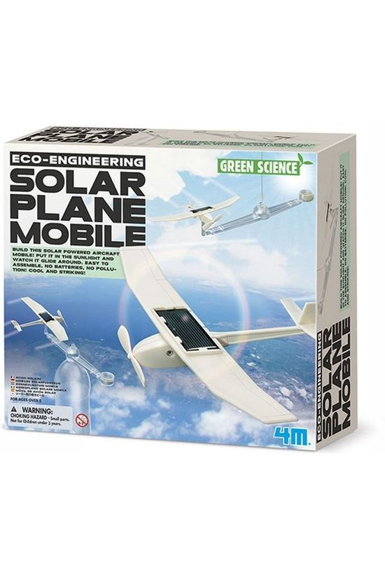 4M Game Solar Plane Mobile white