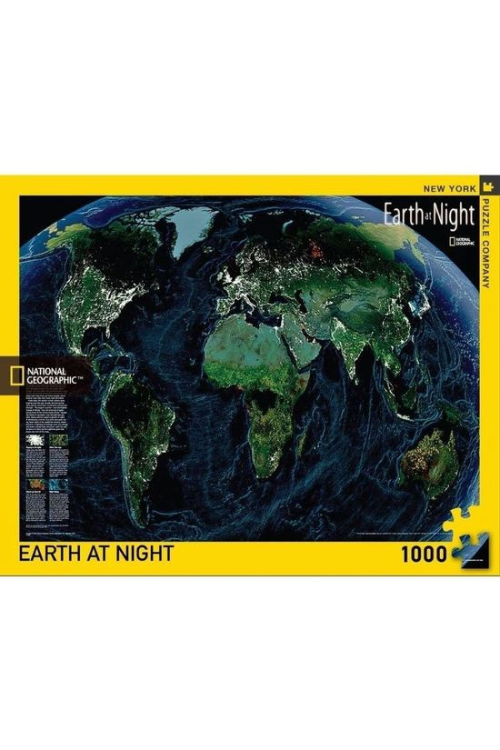 National Geographic Spel Puzzle Earth At Night Geen kleur / Transparant