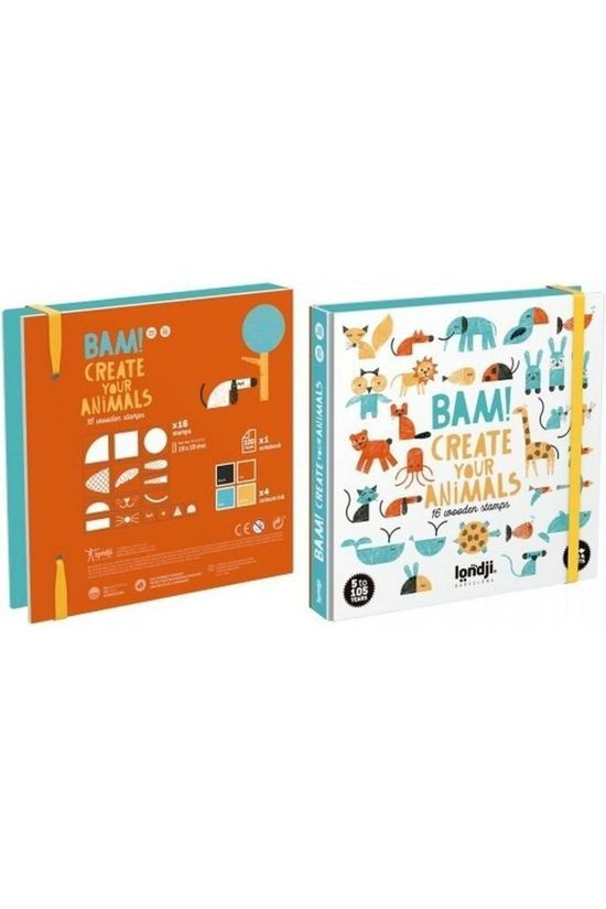 Londji Jeu Bam! Create Your Animals Pas de couleur / Transparent