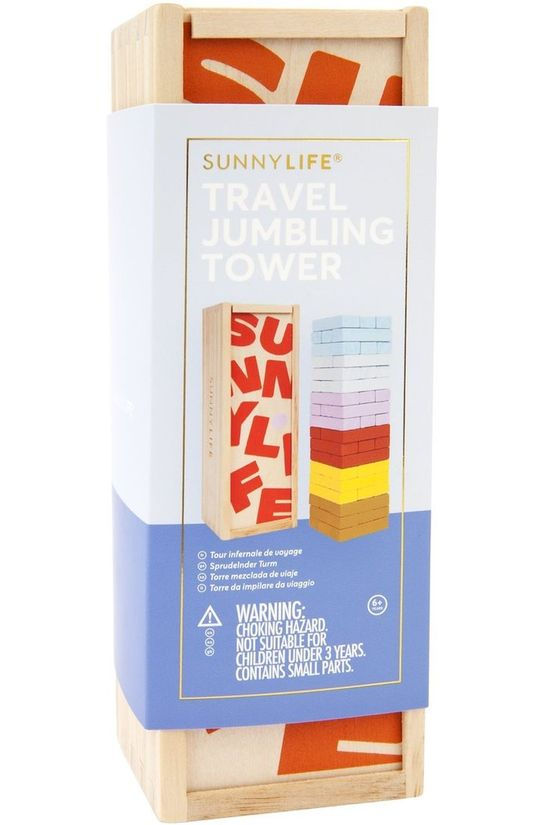 Sunnylife Spel Travel Jumbling Tower Assorti / Gemengd