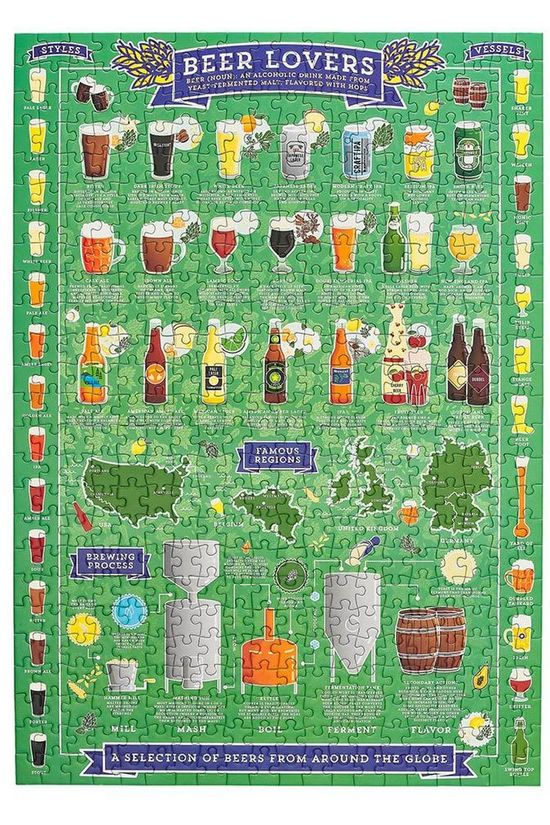 Ridley's Spel Jigsaw Puzzle Beer Lover's 500Pcs Middengroen