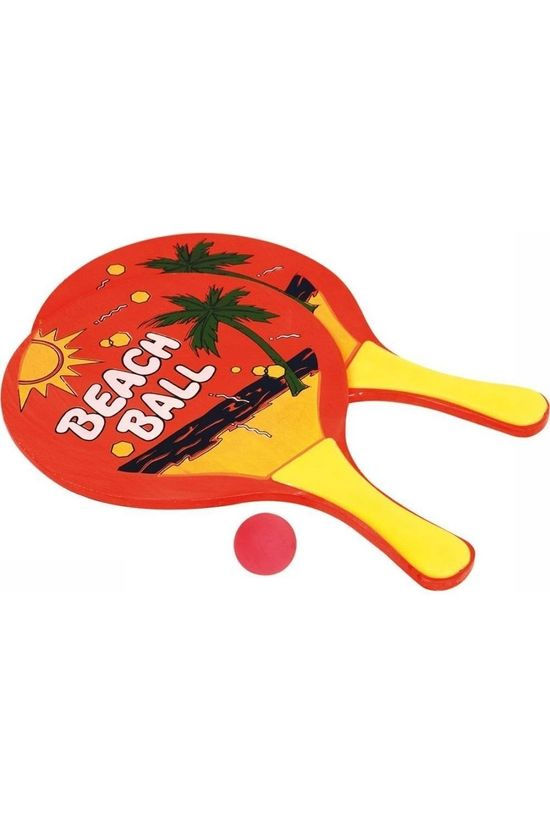 Van Assendelft Toys Beachball Set 2 Rackets Met Een Bal Hout Assorted / Mixed