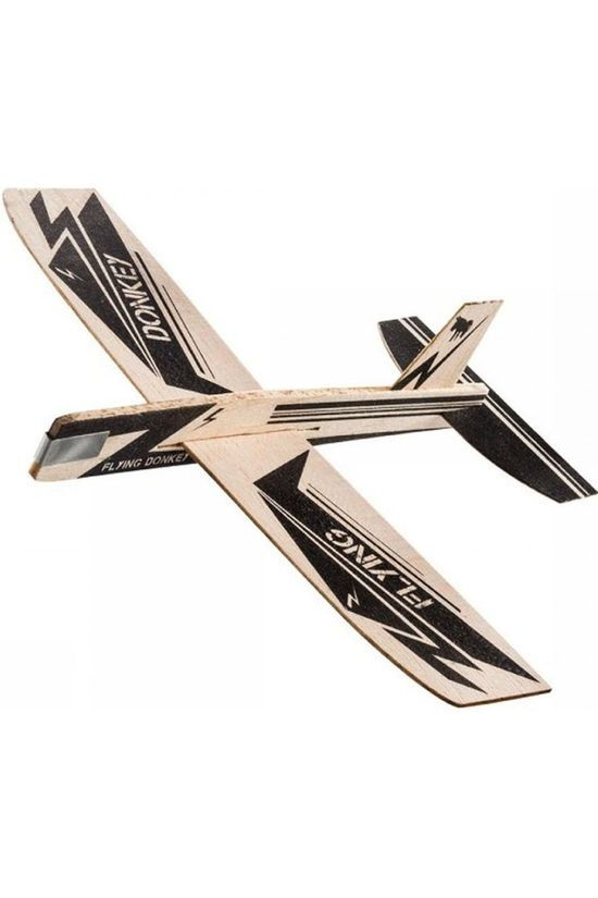 Donkey Toys Looping Stars Wood Glider Plane black