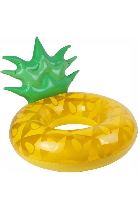 Sunnylife Toys Luxe Pool Ring Pineapple mid yellow/mid green