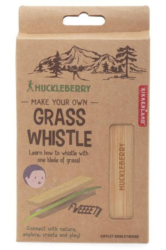 Kikkerland Jouets Hb Grass Whistle Brun Clair