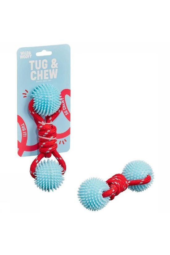 Wild and Woofy Jouets Tug And Chew Toy Bleu Clair/Rouge Moyen