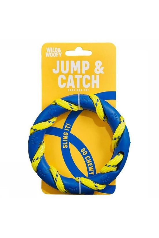 Wild and Woofy Jouets Jump And Catch Toy Bleu Moyen/Jaune Moyen