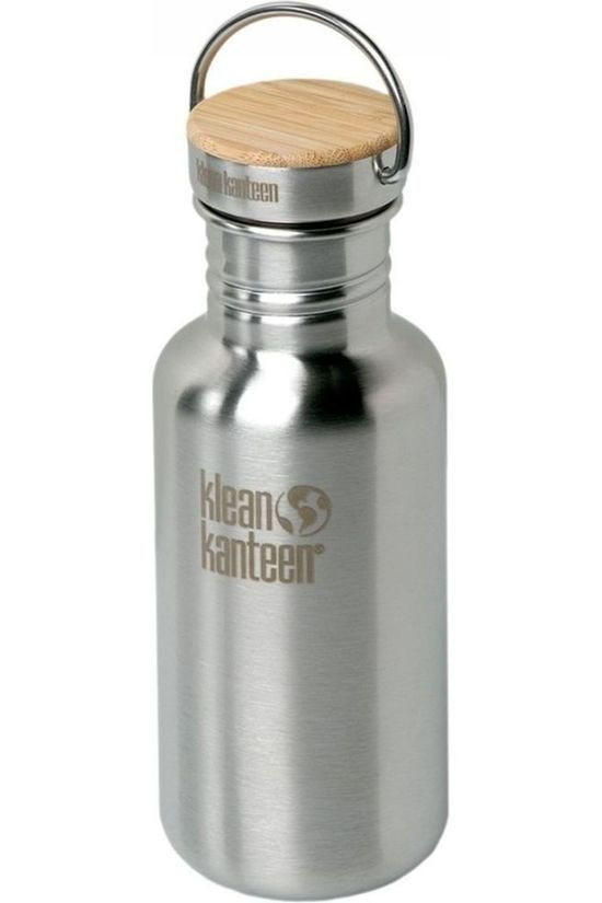 Klean Kanteen Drink Bottle Reflect Single Wall 18Oz 532Ml Bamboo silver/light grey