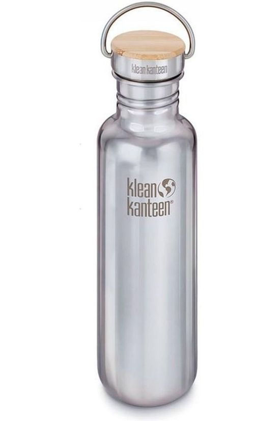 Klean Kanteen Drinkfles Reflect Single Wall 27Oz 800Ml Bamboo Zilver/Geen kleur