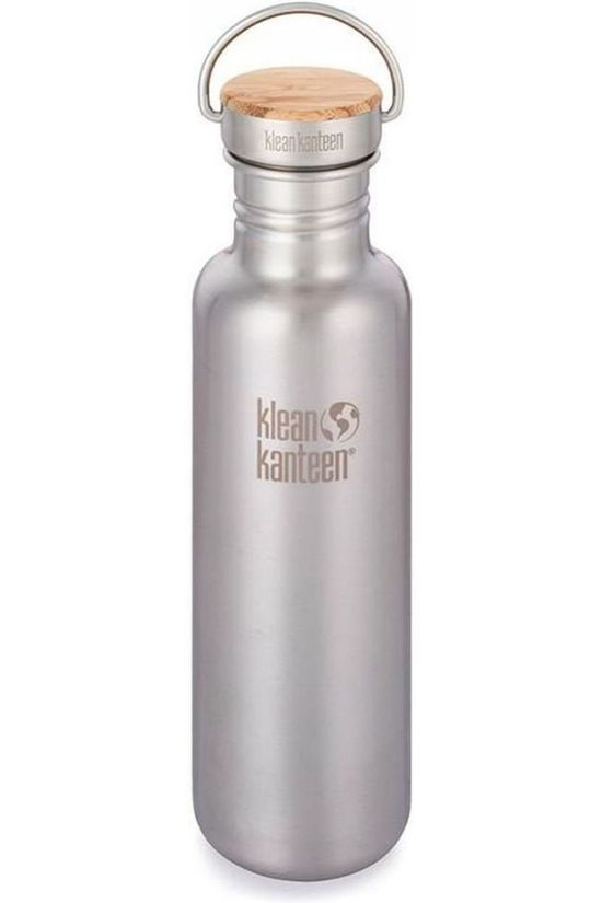 Klean Kanteen Drinkfles Reflect Single Wall 27Oz 800Ml Bamboo Zilver