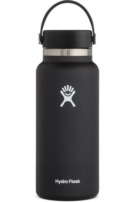 Hydro Flask Isolatiefles 32oz/946ml Wide Mouth Zwart