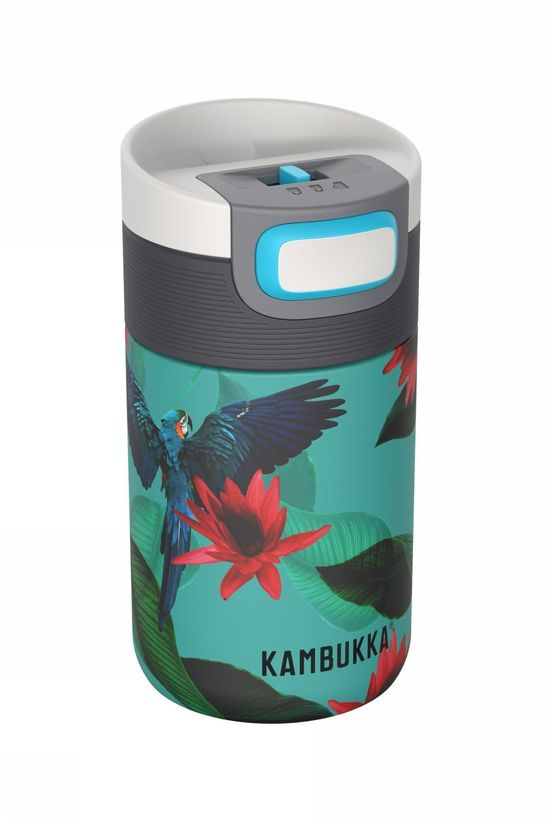 Kambukka Isolation Bottle Etna 300Ml Turquoise/Ass. Flower