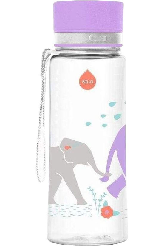Equa Drink Bottle Elephant 400ml Assorted / Mixed/Light Purple