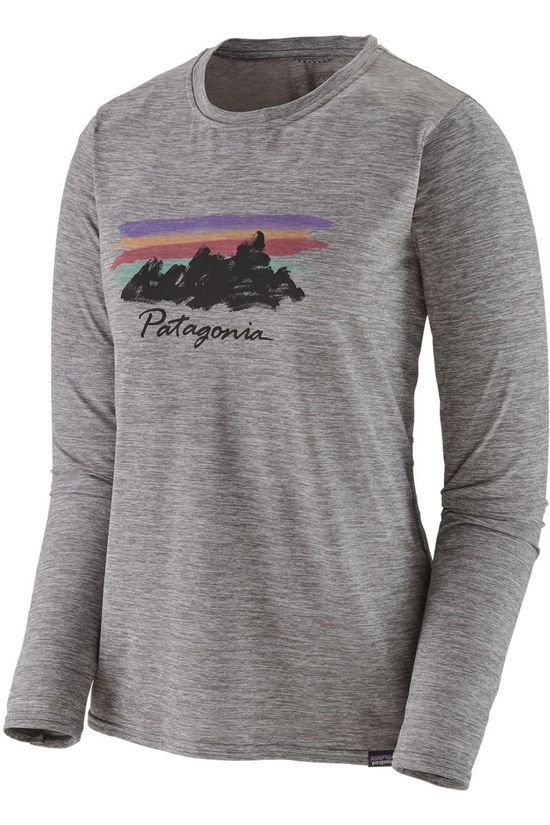 Patagonia T-Shirt Capilene Cool Daily Graphic Mid Grey/Logo
