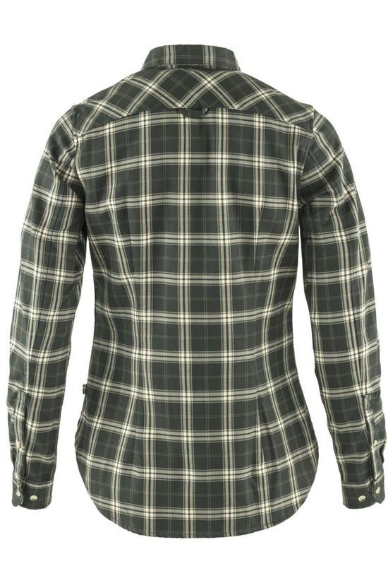 Fjällräven Shirt Fjällglim Stretch Ls W Dark Green/Ass. Geometric