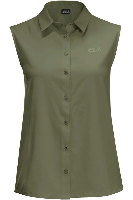 Jack Wolfskin Shirt Sonora Sleeveless light khaki