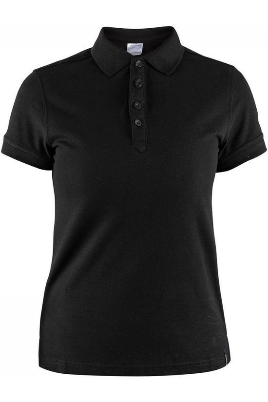 Craft Polo Casual Pique Zwart