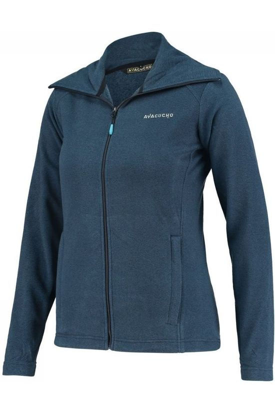 Ayacucho Fleece Crevasse High Collar Marineblauw