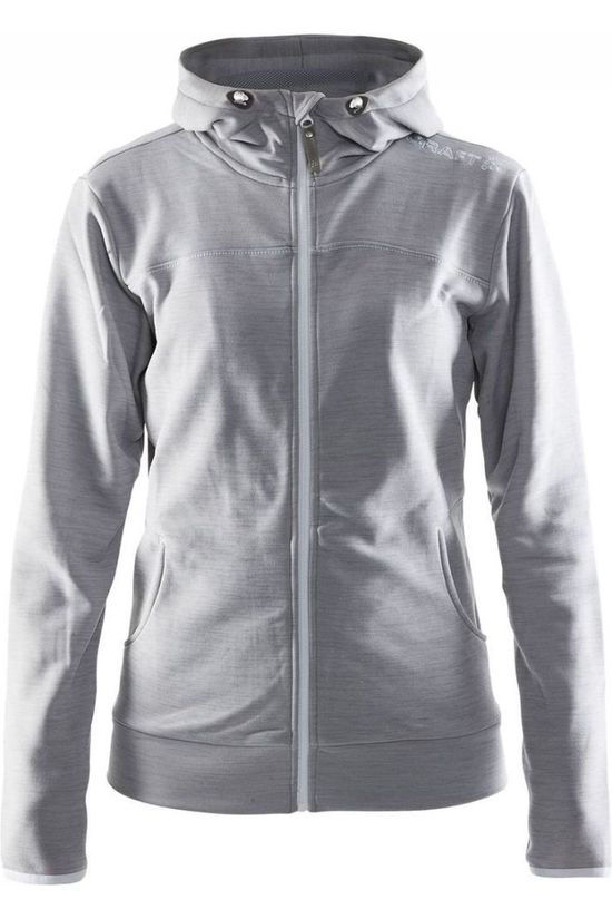 Craft Fleece Leisure FZ Hood Lichtgrijs