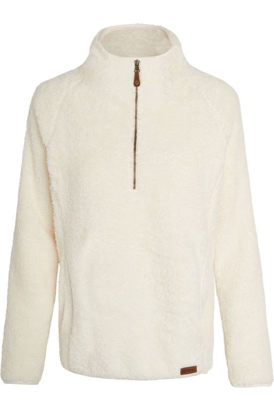 Sherpa Fleece Lhasa Zip Tee off white