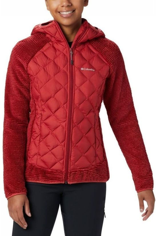Columbia Fleece Techy Hybrid Rood/Donkerrood