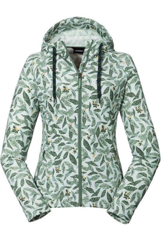 Schöffel Fleece Hoody Maidstone Light Green/Ass. Flower
