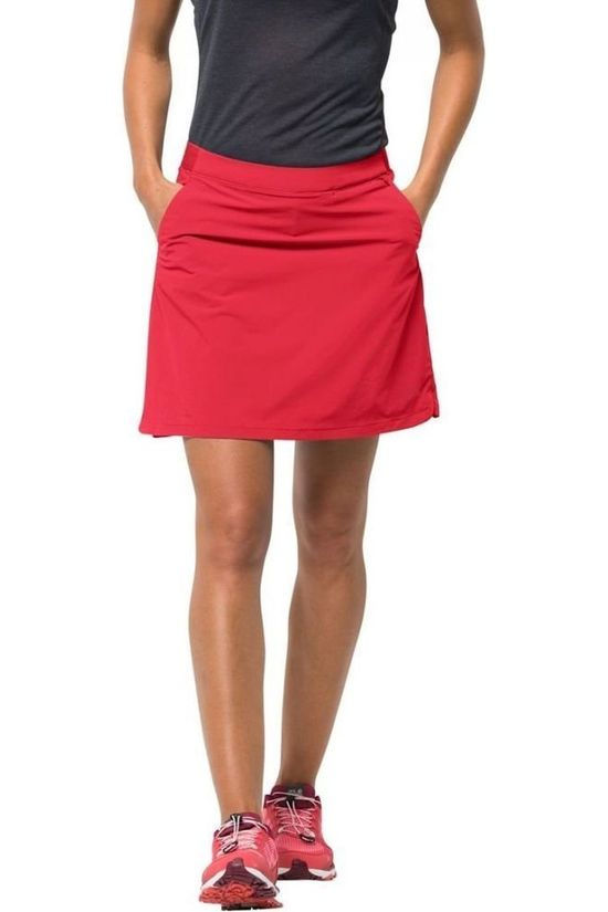 Jack Wolfskin Skort Hilltop Trail light red